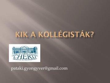 Pataki Gyöngyvér (2010): Kik a kollégisták?