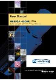 Retiga 4000R User's Manual - QImaging