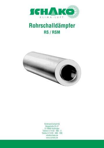 Rohrschalld≤mpfer - Schako