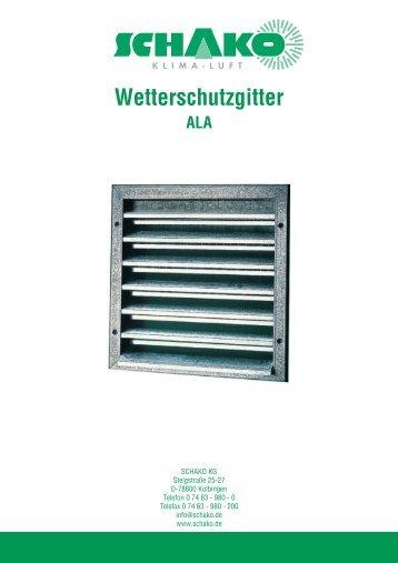 Wetterschutzgitter - Schako