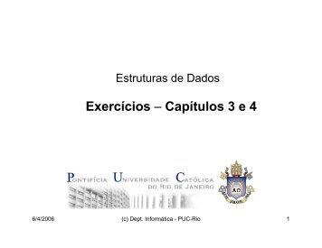 Lista de Exercícios (capítulos 3 e 4)