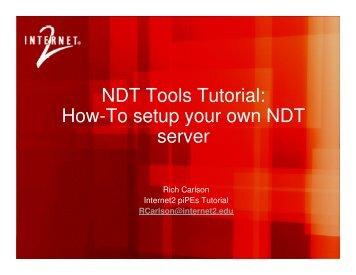 NDT build tutorial - E2Epi - Internet2