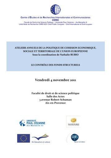 Le contrôle des fonds structurels - CERIC