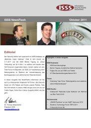 ISSS NewsFlash Oktober 2011