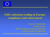 Greenhouse Gas Trading in Europe and Project-based ... - Inece