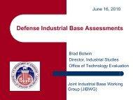 Defense Industrial Base Assessments