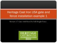 Heritage Cast Iron uSA gate and fence installation example 1