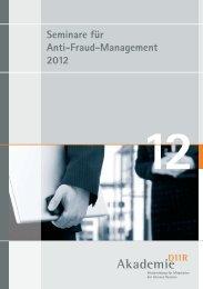 Seminare für Anti-Fraud-Management 2012 - Deutsches Institut für ...