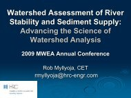 Watershed Assessment and River Stability and Sediment Supply ...