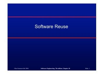 Software Reuse - Ian Sommerville