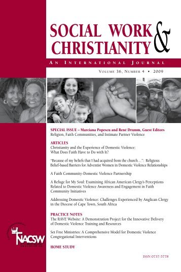 social work christianity - North American Association of Christians in ...