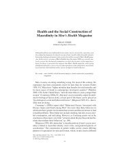 Health and the Social Construction of Masculinity in Men's Health ...