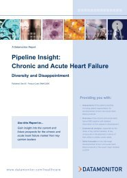 Pipeline Insight: Chronic and Acute Heart Failure - Datamonitor