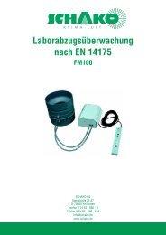 Laborabzugs berwachung nach EN 14175 - Schako