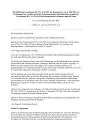 Verordnung EU Nr. 414-2013 zur Festlegung eines Verfahrens für ...