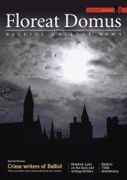 Issue 18, 2012 - Balliol College - University of Oxford