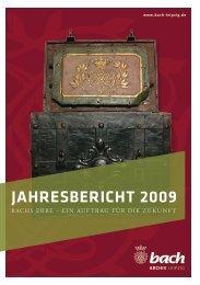 Jahresbericht 2009 - Bach-Archiv Leipzig