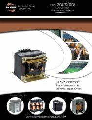 HPS Spartan® - Hammond Power Solutions