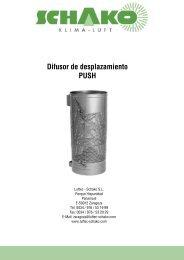 PUSH Difusor de desplazamiento - Schako