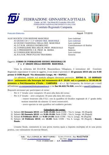 federazione ginnastica d'italia - Comitato Regionale Campania F.G.I.