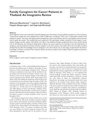 Family Caregivers for Cancer Patients in Thailand: An ... - SAGE Open