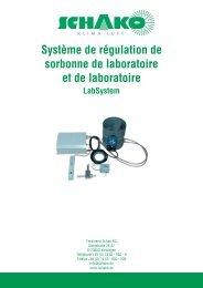 Système de régulation de sorbonne de laboratoire et de ... - Schako
