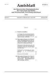 Amtsblatt - Bayerisches Staatsministerium für Unterricht und Kultus