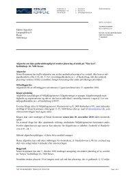Afgørelse om ikke-godkendelsespligt ... - Struer kommune