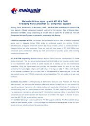 Malaysia Airlines signs up with AFI KLM E&M for Boeing Next ...