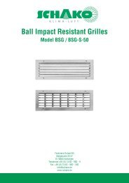Ball Impact Resistant Grilles - Schako
