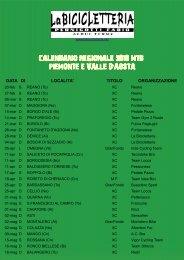calendario regionale 2010 mtb piemonte e valle d aosta