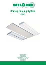 Ceiling Cooling System - Schako