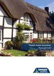 Thatched Proposal Form - Towergate Underwriting