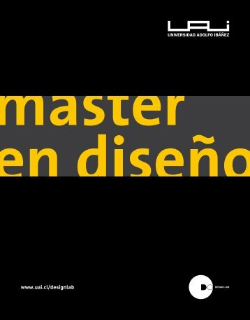 Master en Diseño de la UAI - Universidad Adolfo Ibañez