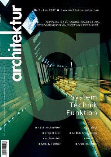 architektur - Heft 5 - Juni 2007 - Architekt Huss