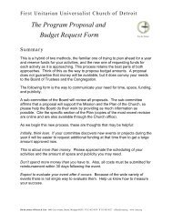 The Program Proposal and Budget Request Form - First Unitarian ...