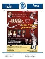 May/June 2013 - Beth Tikvah Synagogue, Toronto