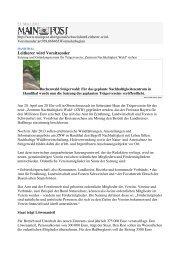 Leitherer wird Vorsitzender - Nationalpark Steigerwald