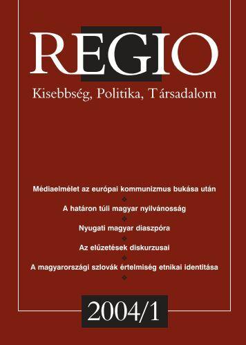 Regio 2004. 1.szám