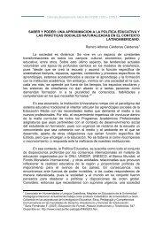 SABER Y PODER: UNA APROXIMACION A LA POLITICA ... - 1