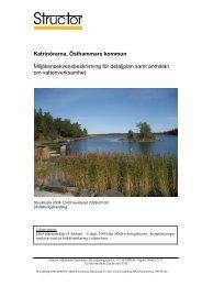 Katrinörarna, Östhammars kommun Miljökonsekvensbeskrivning för ...