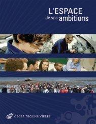 Rapport annuel 2010-2011 - Cégep de Trois-Rivières