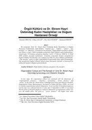 Örgüt Kültürü ve Dr - Sağlık İdaresi Bölümü