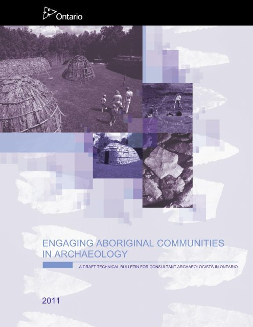 Engaging Aboriginal Communities in Archaeology - Ministry of ...