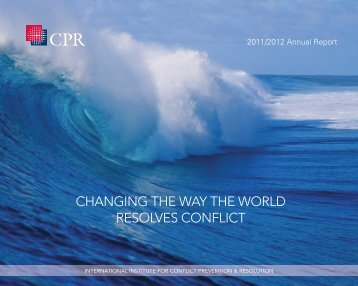 CHaNGING tHE WaY tHE WORLD REsOLVEs CONfLICt