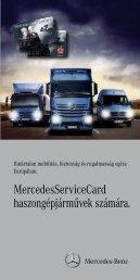 MercedesServiceCard haszongépjárművek számára.