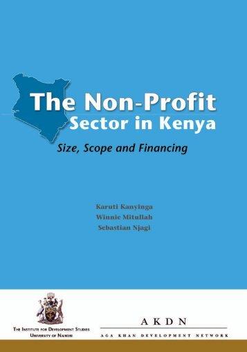 The Non-profit Sector in Kenya - Aga Khan Development Network