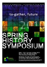 Spring History Symposium