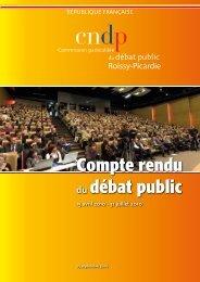 Compte rendu du débat public - Liaison Roissy-Picardie - Grand ...