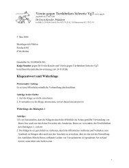 Klageantwort und Widerklage - VgT